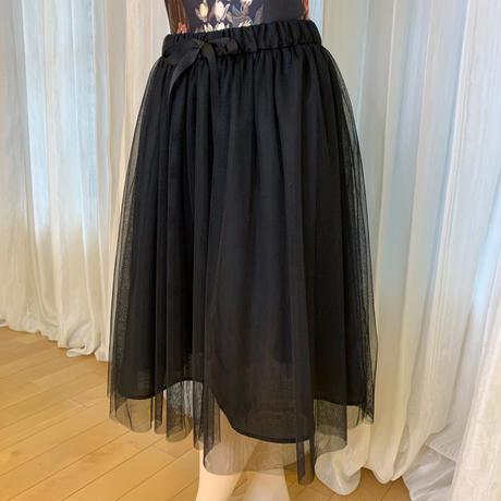 【sylphynes】ミルフィーユチュールスカート 62cm丈 ブラック <20091>