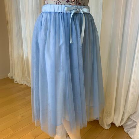 【sylphynes】ミルフィーユチュールスカート 62cm丈 サックス <20094>