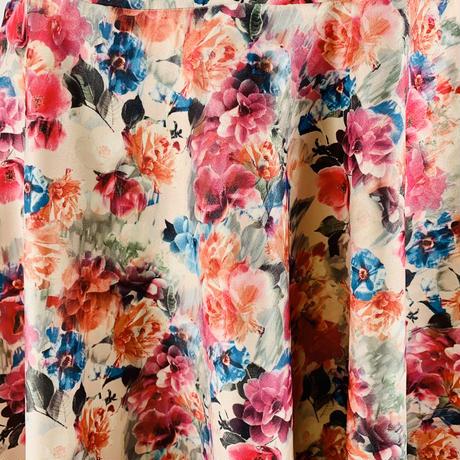 プルオンストレッチスカート フラワーベッド