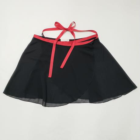 シフォン ラップスカート ブラック