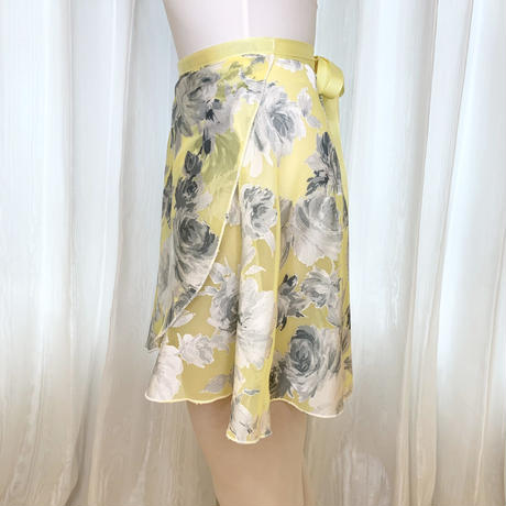 【sylphynes】エコオパールラップスカート 38cm丈 カナリアイエロー<20119>