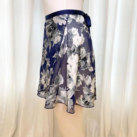 【sylphynes】エコオパールラップスカート 38cm丈 ネイビーブルー<20120>