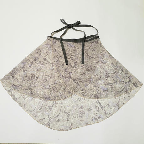 バックテイルラップスカート グレーペイズリー