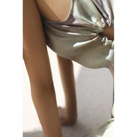 Watercolor Print Sleeveless Dress(ls11207D)