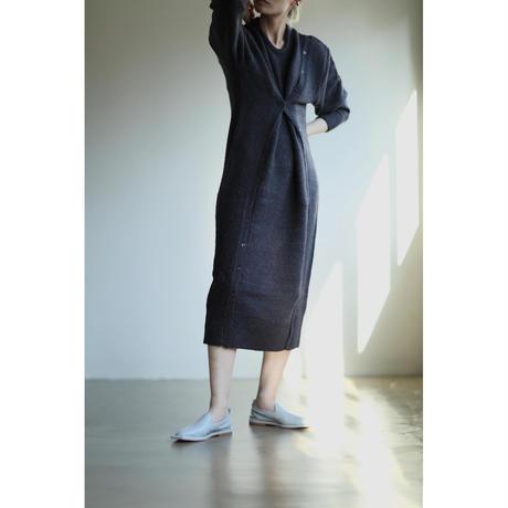 Button Layered Knit Dress(ls142K)