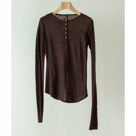 Wool Cut Henry Tops(ls130T)
