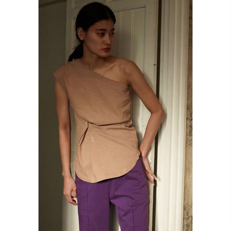 One Shoulder  Sleeveless Tops(ls102T)