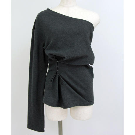 "【""little $uzie"" Original #4】One Shoulder Drape Cut&Sewn(ls066T)"