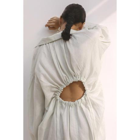 "French Linen Back""O"" Dress(ls11214D)"