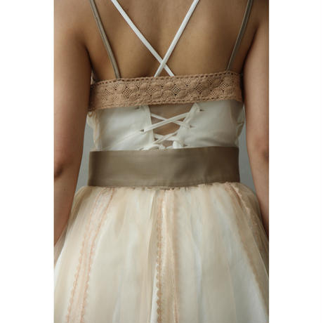 Knit Lace Tulle Dress (ds107)