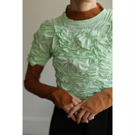 Sheer Fitted Tops(ls137T)