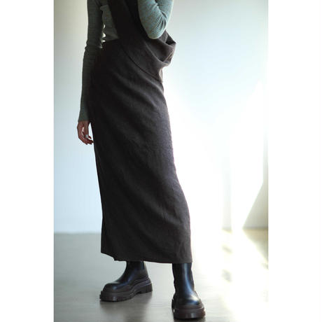 2way Linen Wool Knot Skirt(ls143S)