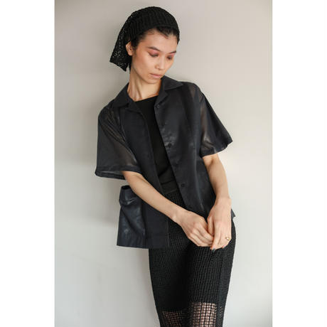 Tape Yarn Mesh Skirt(ls12226S)
