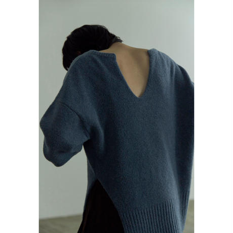 "【""little $uzie"" Original #5】Merino Wool Slash Knit(ls141K)"