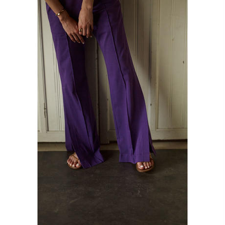 "【""little $uzie"" Original #4】Side Slit Flare Pants (ls101P)"