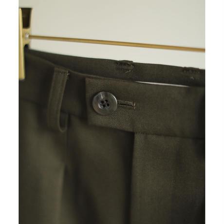 Wool Gabardine One-tuck Straight Slacks(ls14256P)