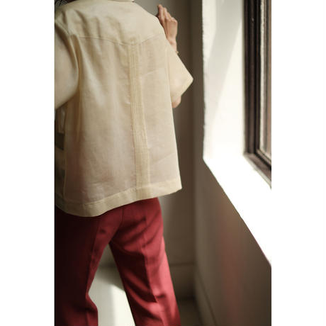 Chintz Sheer Cuba Shirts(ls12236T)