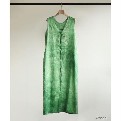 Hand Dyed Linen Long Gilet(ls12239D)