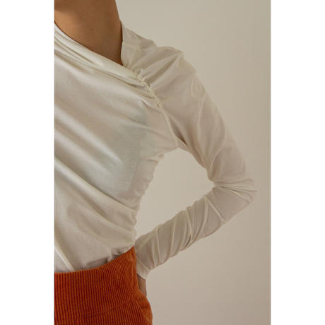 "【""little $uzie"" Original #5】Asymmetry Shirring Tops(ls114T)"