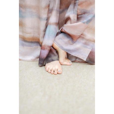 Watercolor Print Tucked Inside Wide Pants(ls11209P)