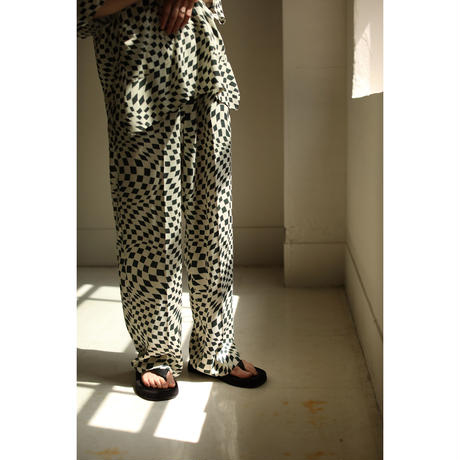 Psychedelic Checker Easy Pants(ls12240P)