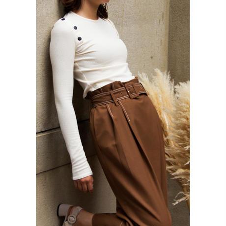 "【""little $uzie"" Original】Belted Stitch Pants (ls016)"