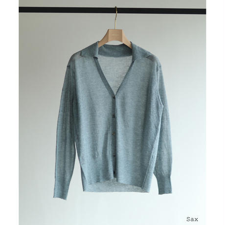 Cotton Linen Dry Touch V Collar Cardigan(ls11217K)