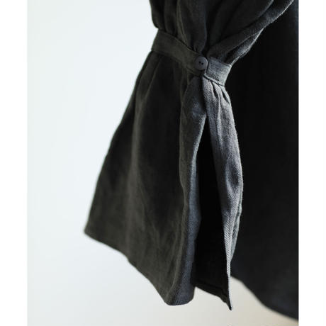 Belgium Linen Gather Collar Blouse(ls11237T)