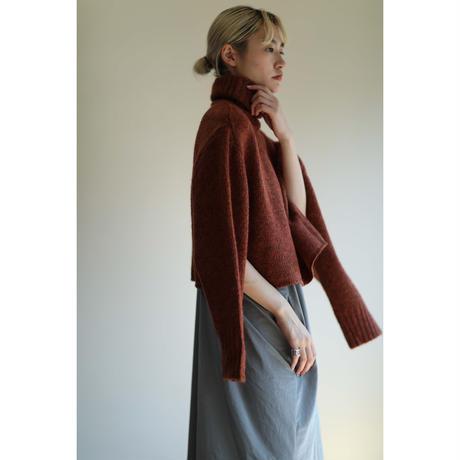Mohair Mix Turtleneck Sweater(ls144K)