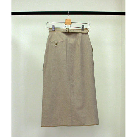 "【""little $uzie"" Original #4】Leather Piping Sarong Skirt(ls104S)"