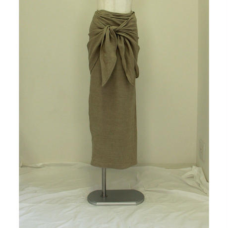 "【""little $uzie"" Original #4】2way Linen Knot Skirt(ls111S)"