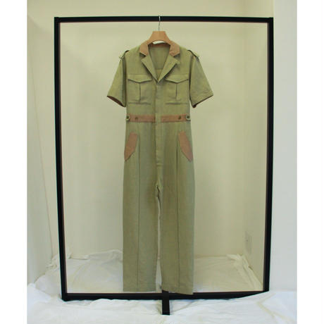 "【""little $uzie"" Original #4】2tone Military Jumpsuit(ls105P)"
