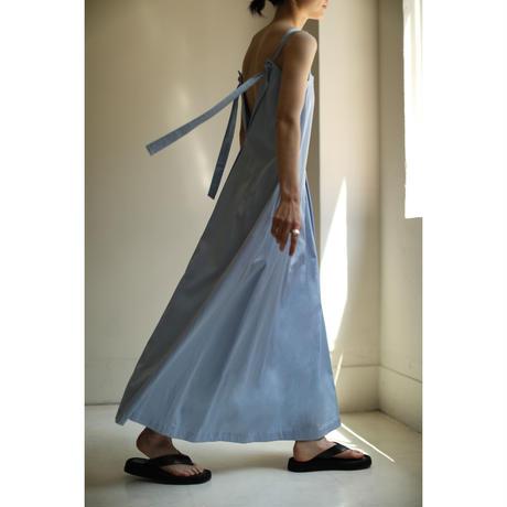 """Back """"V"""" Satin Dress(ls12233D)"""