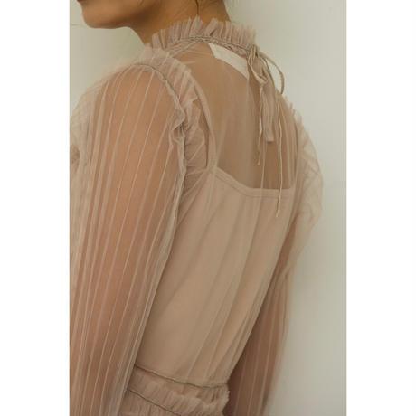 Romantic Tulle Dress (Beige/Black)(ds095)