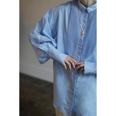 Pin Tuck Bib Dress Shirt(ls14270T)