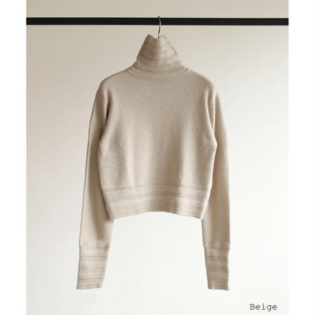 Zigzag Rib Hi-neck Knit(ls14259K)