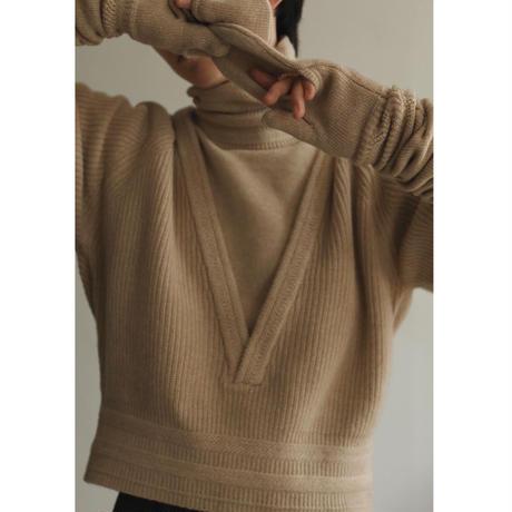 Zigzag Rib V-neck Knit(ls14260K)