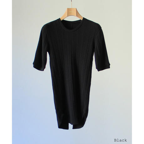 "【""little $uzie"" Original #6】Back Slit Random Rib Tops(ls167T)"