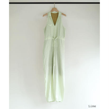 French Linen Tailor Sleeveless Jumpsuit(ls11219P)