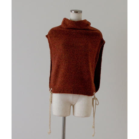 "【""little $uzie"" Original #5】Mohair Mix 2way Rope Vest(ls145K)"