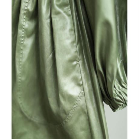 Leather Like Hoodie Dress Coat(ls14255J)