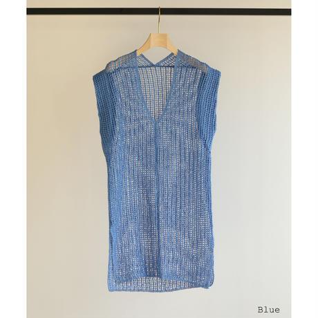 Tape Yarn Mesh Vest(ls12225K)