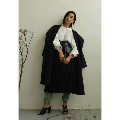 Handmade Big Hoodie Gown Coat (Black/Khaki/Camel)(ot074)