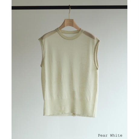 Cotton Linen Dry Touch Sleeveless Knit(ls11216K)