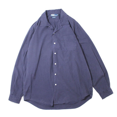【USED】RALPH LAUREN LS OPEN COLLAR SHIRTS
