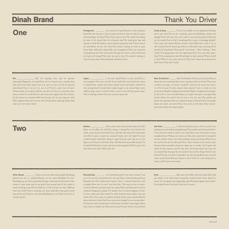 "Dinah Brand - ""Thank You Driver"" (LP)"