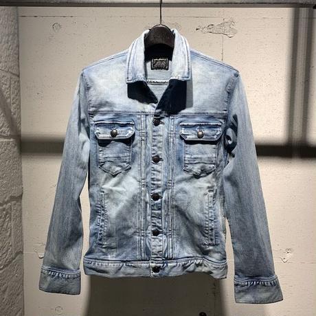 【Custom Culture】11ozストレッチデニムジャケット ライトインディゴ