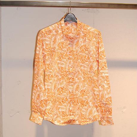 【SSEINSE】ボタニカル柄シャツ オレンジ系