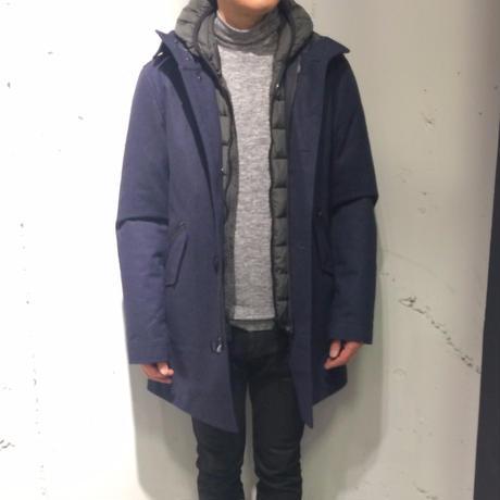 【AT.P.CO】中綿ライナー付フーデッドステンカラーコート ネイビー