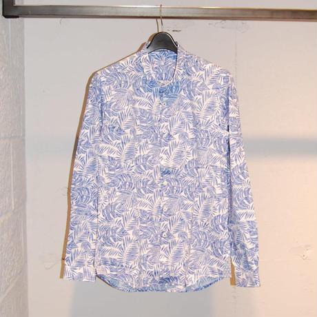 【SSEINSE】ボタニカル柄シャツ ブルー系